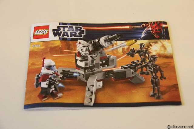 Lego Star Wars 9488 Elite Clone Trooper Battle Pack Instructions Only