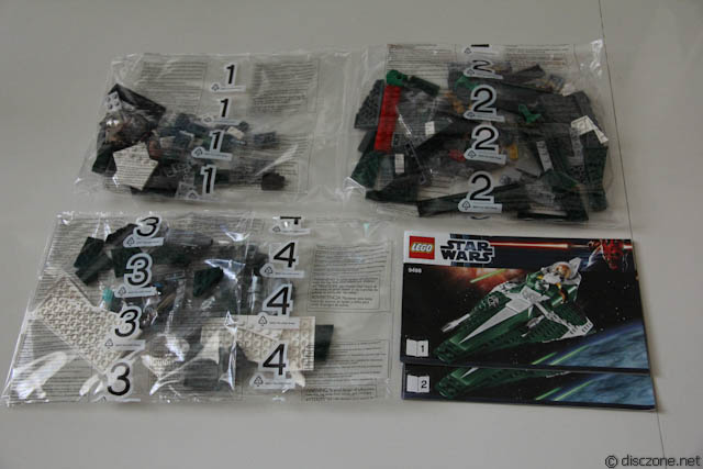 9498 Saesee Tiin's Jedi Starfighter - Contents