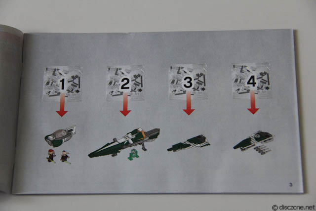 9498 Saesee Tiin's Jedi Starfighter - Why 4 Packs