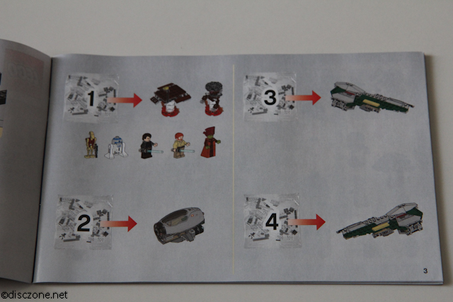9494 Anakin's Jedi Interceptor - Packages Distribution