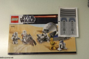 9490 Droid Escape - Booklet and Sticker