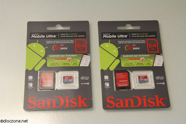 SanDisk 64GB MicroSD From Amazon - Twins