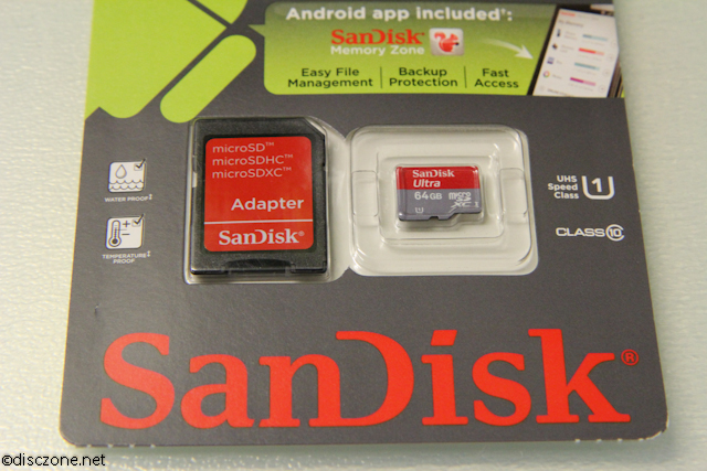 SanDisk 64GB MicroSD From Amazon - Close Up