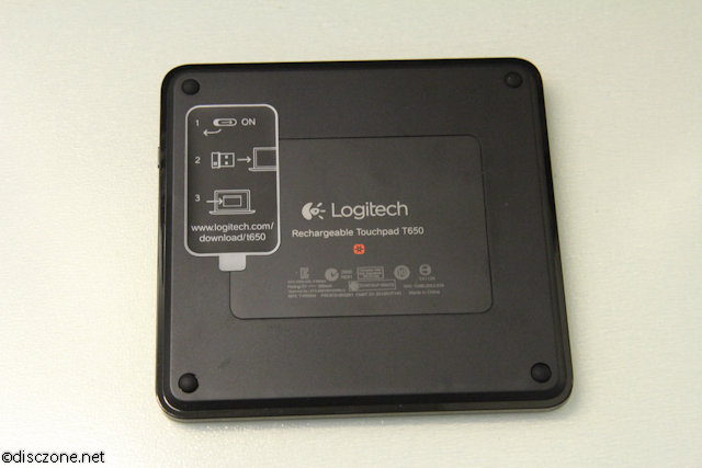 Logitech T650 Touchpad - Touchpad Bottom
