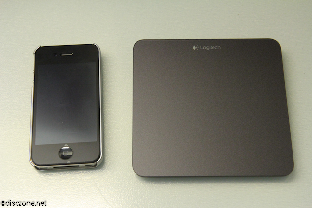 Logitech T650 Touchpad - Size Compared with iPhone 4
