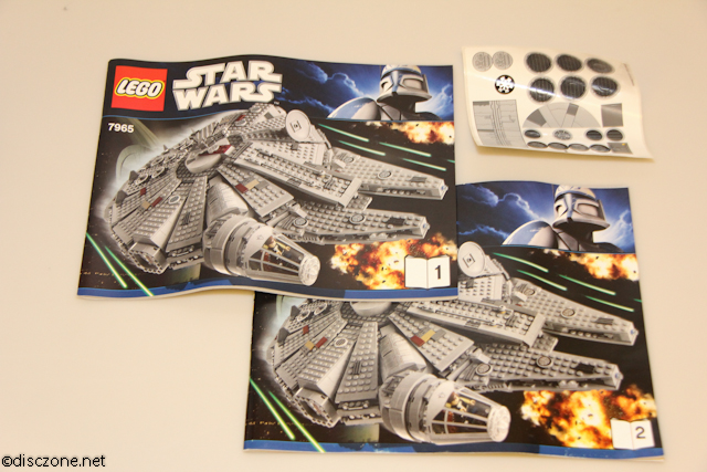 7965 Millennium Falcon - Booklets and Stickers