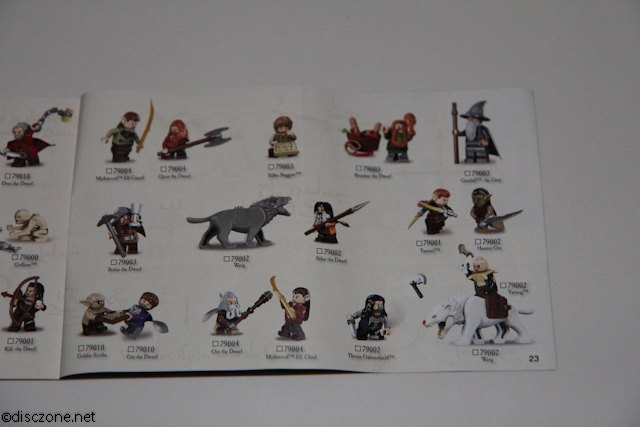 79000 Hobbit - Riddles for the Ring - Minifigures in this release 2