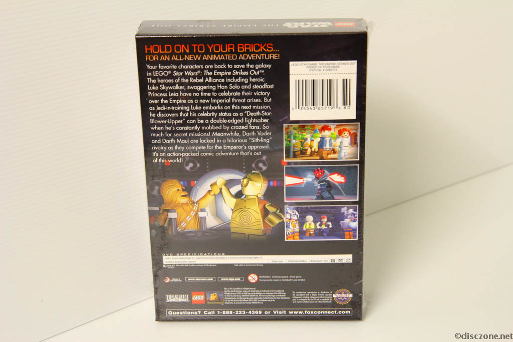 Lego Star Wars DVD - The Empire Strikes Out - Box Rear