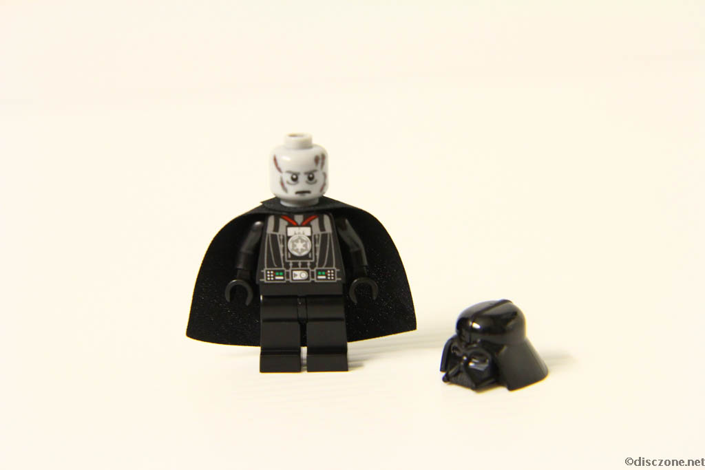 Lego Star Wars DVD - The Empire Strikes Out - Darth Vadar Minifigure Face