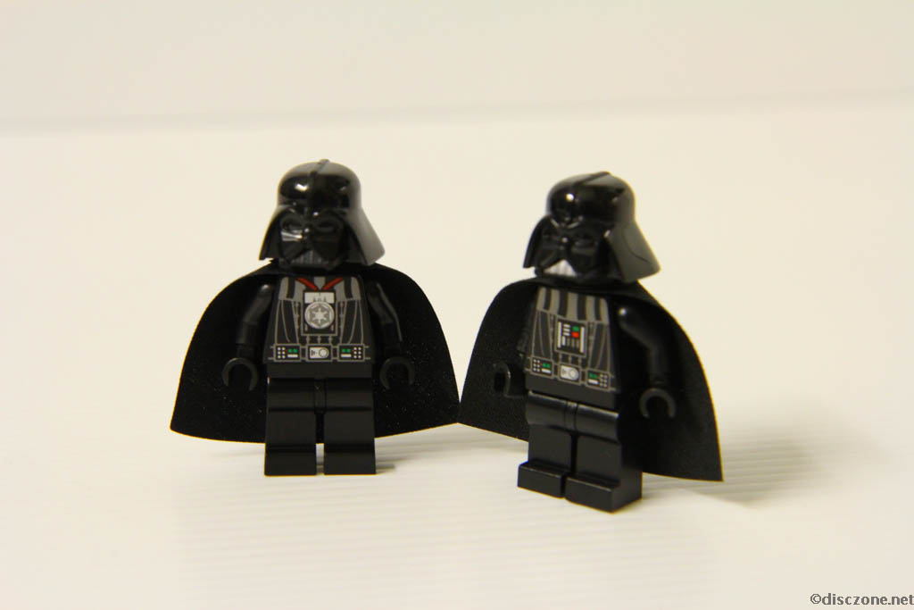 Lego Star Wars DVD - The Empire Strikes Out - Comparing Darth Vadar Minifigures