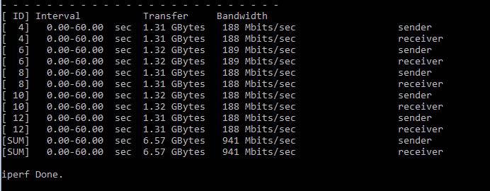 DIR-885 iPerf3 LAN Intel R