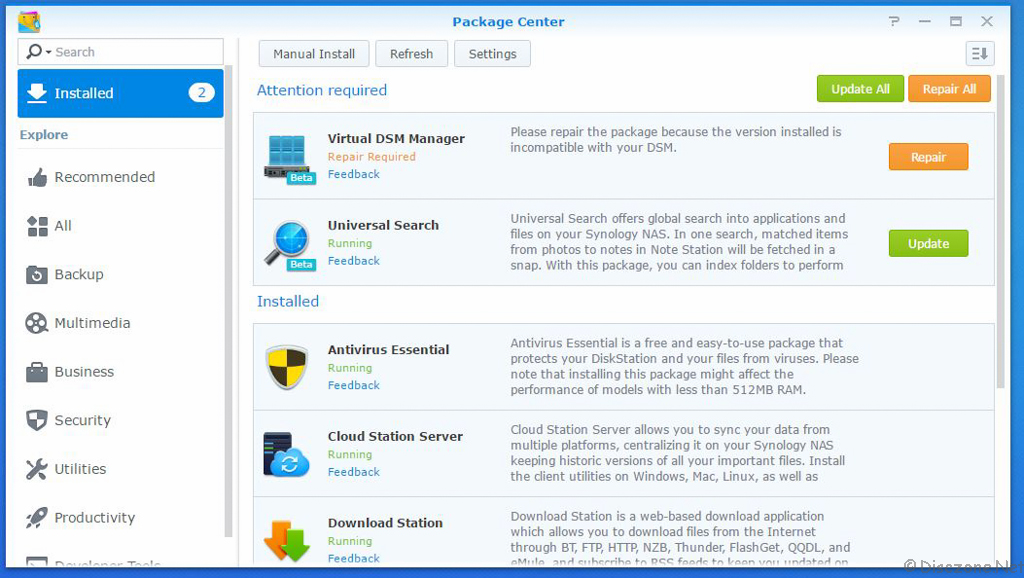 cloud station server synology