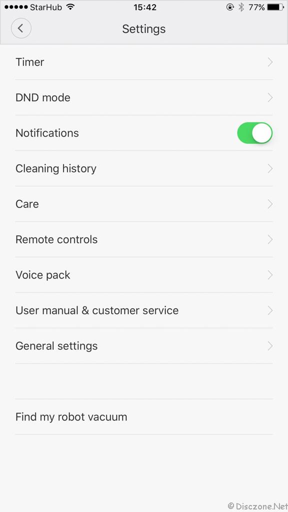 Xiao Mi Vacuum - App 3