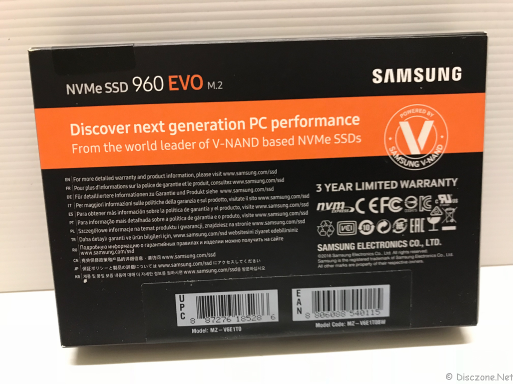 DS918 Review - Samsung NVMe SSD Box Rear