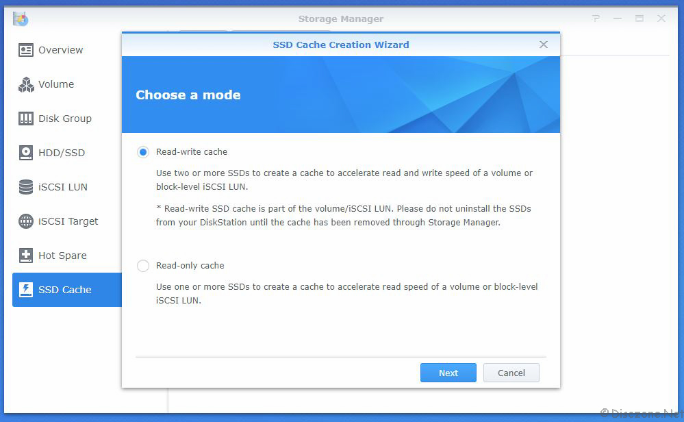 Adding SSD Cache to Synology DiskStation DS918+ with Samsung