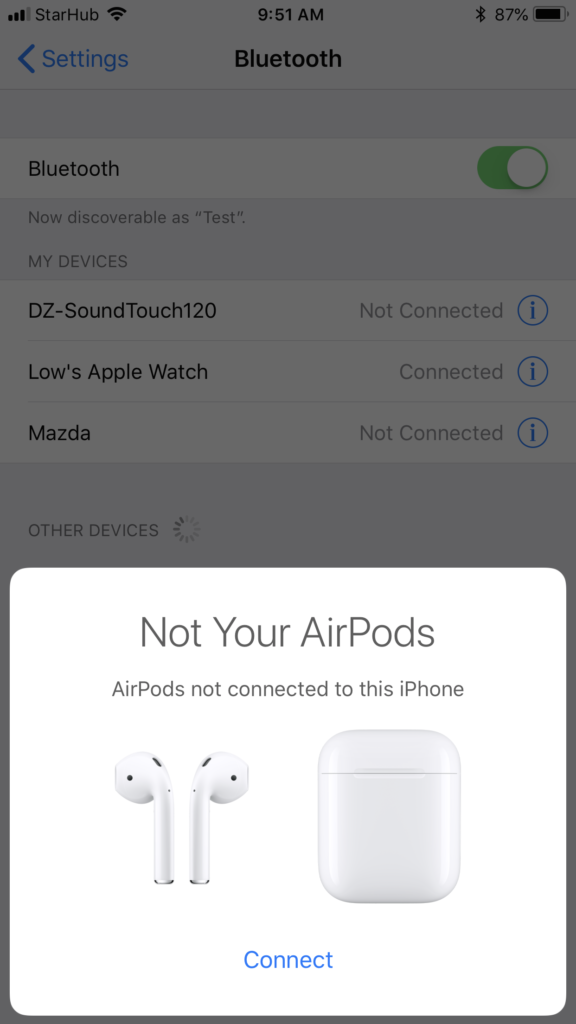 Apple AirPods - Connecting 1