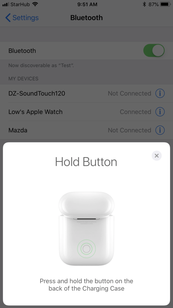 Apple AirPods - Connecting 2