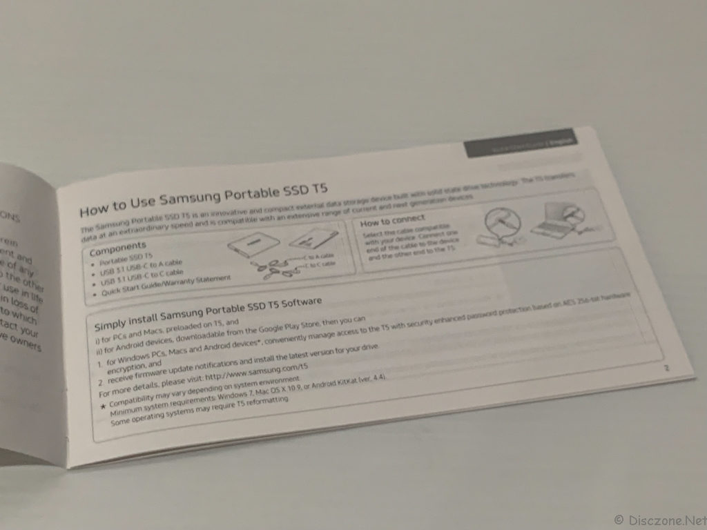 Samsung T5 - Manual