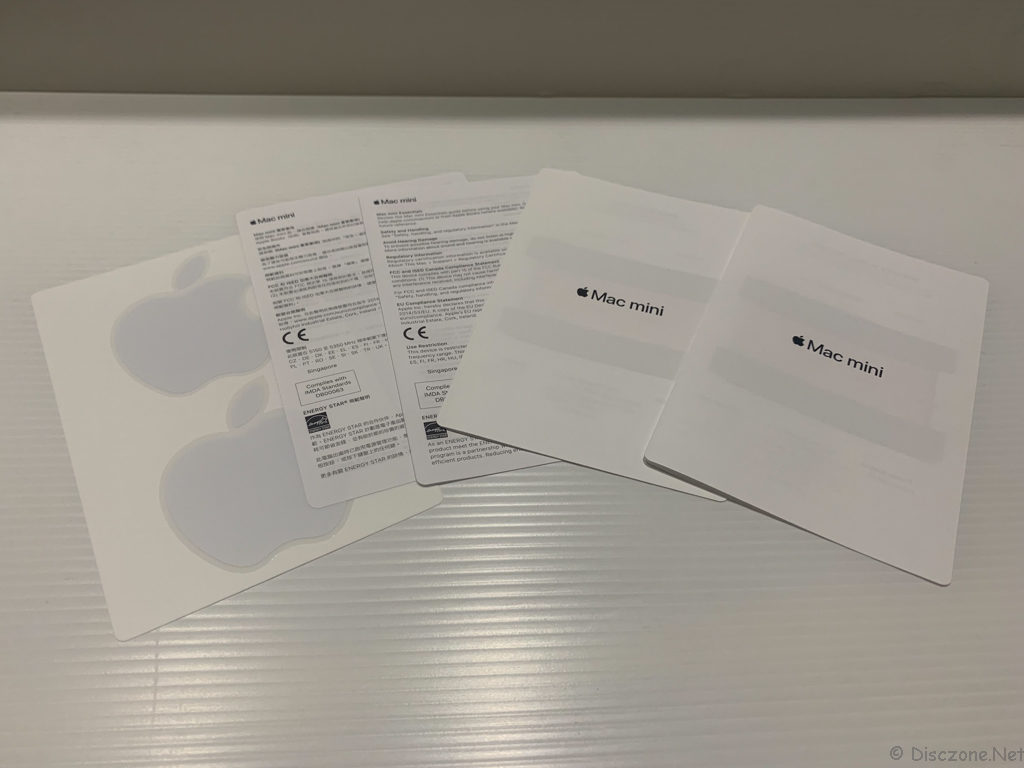 Mac Mini 2018 - Booklets and Stickers
