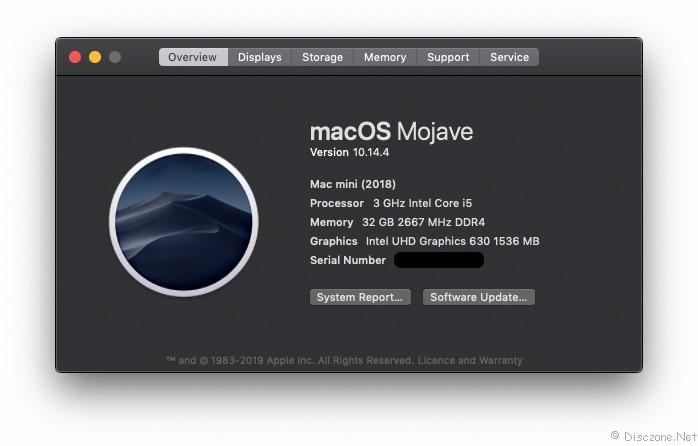 Mac Mini 2018 - Stats 1