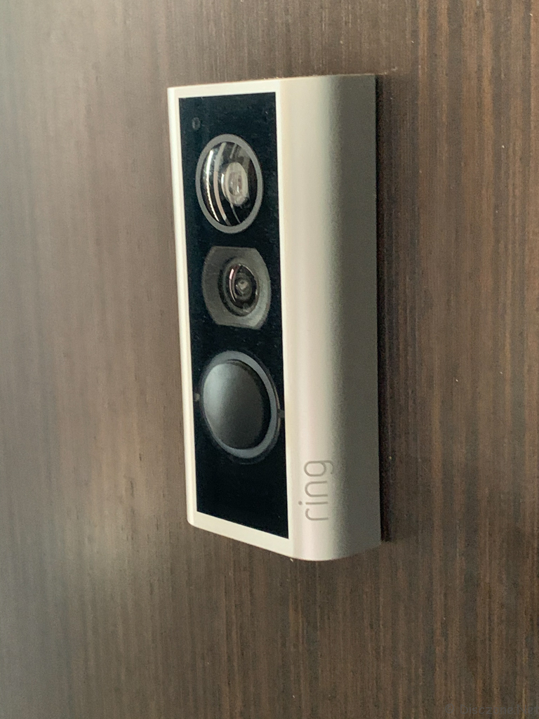 Ring Peephole Cam - Installed Outside
