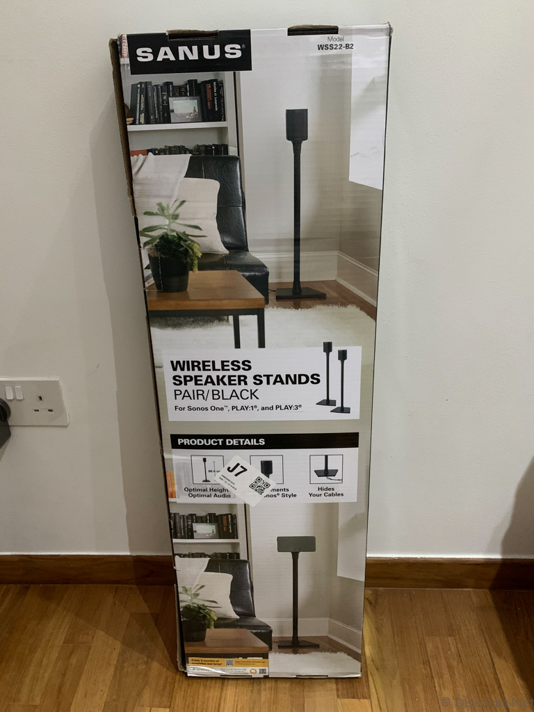 Sanus WSS22-B2 Sonos Speaker Stands - Box Rear
