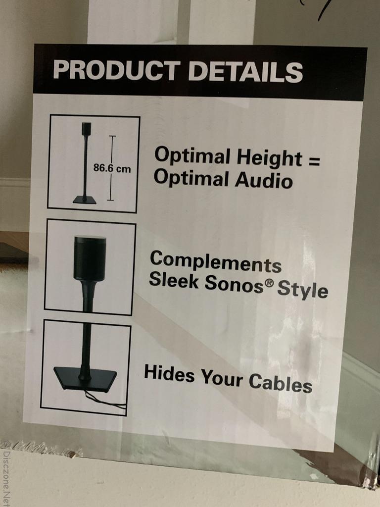 Sanus WSS22-B2 Sonos Speaker Stands - Details