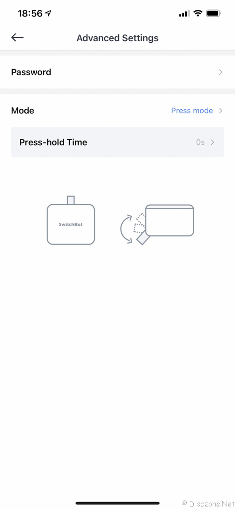 Review of SwitchBot Products - App Bot Settings 3