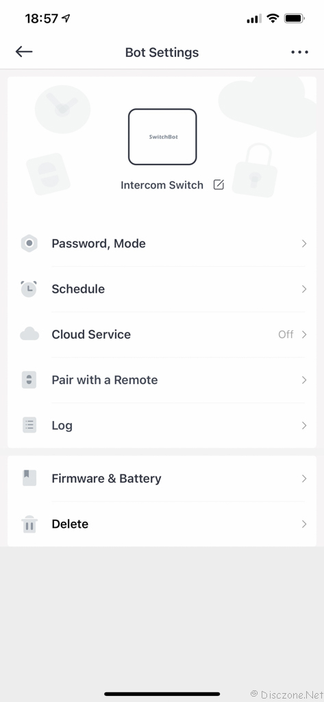 Review of SwitchBot Products - App Bot Settings 11